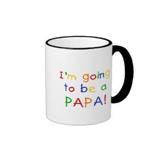 El ir a ser una papá - colores primarios taza a dos colores