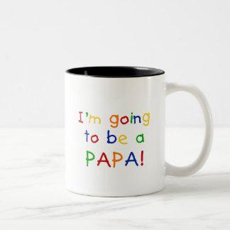El ir a ser una papá - colores primarios taza dos tonos