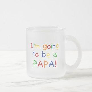 El ir a ser una papá - colores primarios taza cristal mate