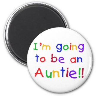 El ir a ser una tía colores primarios imán redondo 5 cm