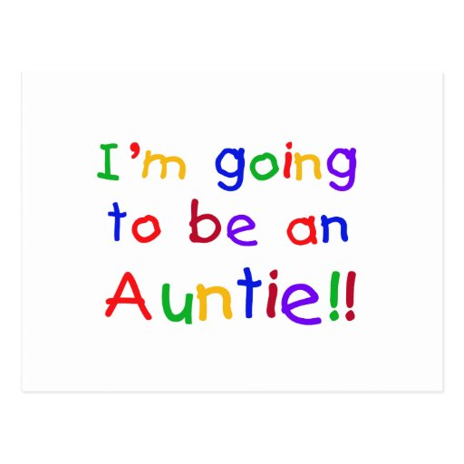 El ir a ser una tía colores primarios tarjeta postal