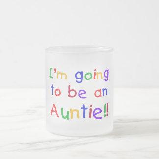 El ir a ser una tía colores primarios taza de café