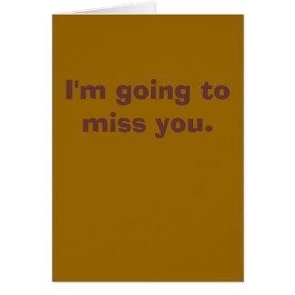 El ir a Srta. You Card Tarjeta