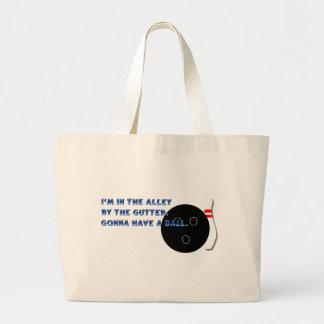 El ir a tener un bolso de la bola bolsa lienzo
