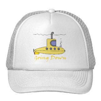 El ir abajo del gorra