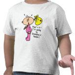 El ir al bebé de la casa de la abuela (rosa) camisetas