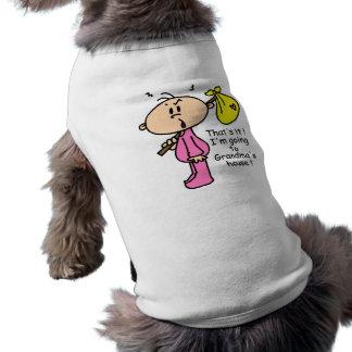 El ir al bebé de la casa de la abuela (rosa) playera sin mangas para perro