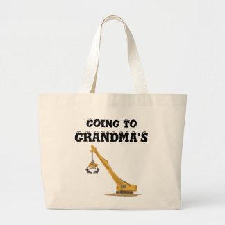 El ir al bolso de la abuela/del abuelo bolsa tela grande
