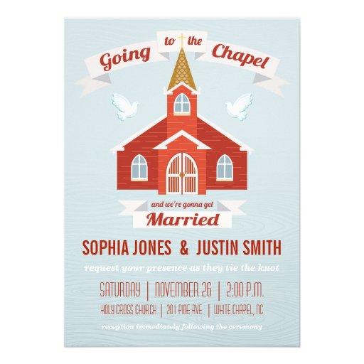 El ir al ROJO de la invitación del boda de la capi
