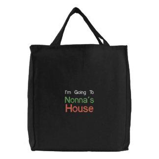 El ir bordado negro al bolso de la casa de Nonnas Bolsas