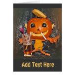 El ir de fiesta de la calabaza de Halloween Tarjetas