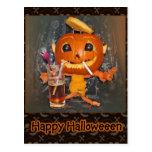 El ir de fiesta de la calabaza de Halloween Tarjetas Postales