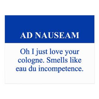 El ir en el anuncio Nauseam 2 Tarjeta Postal