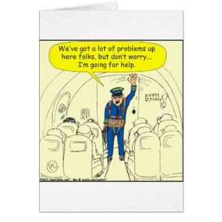El ir experimental de 324 líneas aéreas para el tarjeta de felicitación