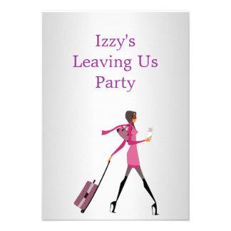 El ir lejos chica del acontecimiento del fiesta co anuncios personalizados