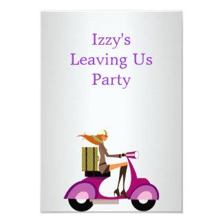 El ir lejos chica del acontecimiento del fiesta en comunicados personalizados