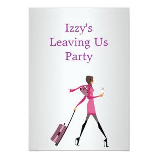 El ir lejos chica del acontecimiento del fiesta anuncios personalizados