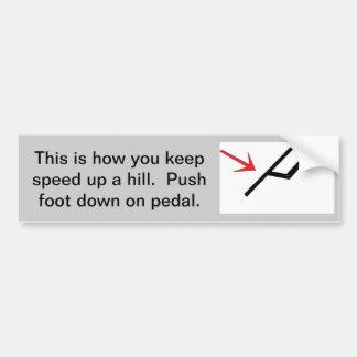 El ir para arriba una colina pegatina de parachoque