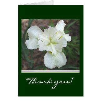 El iris blanco le agradece cardar tarjeta de felicitación