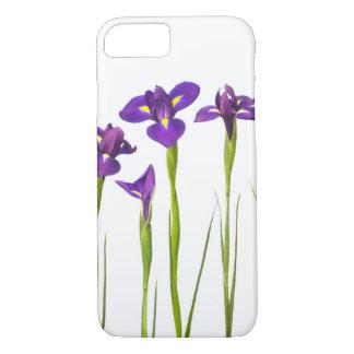El iris colorido de la flor púrpura de los iris funda iPhone 7