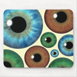 El iris de Brown del verde azul calcula visualment Tapete De Ratones