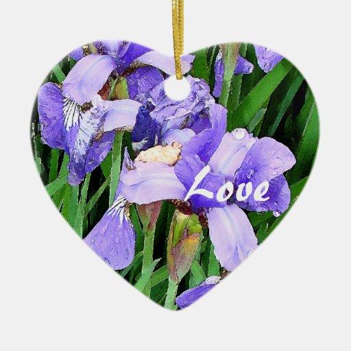 El iris florece el ornamento del amor ornamentos de reyes magos