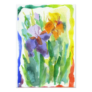 El iris florece la pintura del arco iris anuncios personalizados