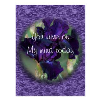 El iris púrpura 2899wvbk - modifique cualquier postal