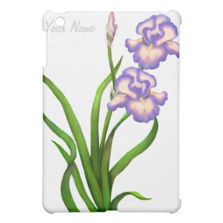 El iris púrpura florece la caja adaptable de la