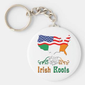 El irlandés americano arraiga el llavero