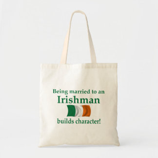 El irlandés construye el carácter bolsa tela barata