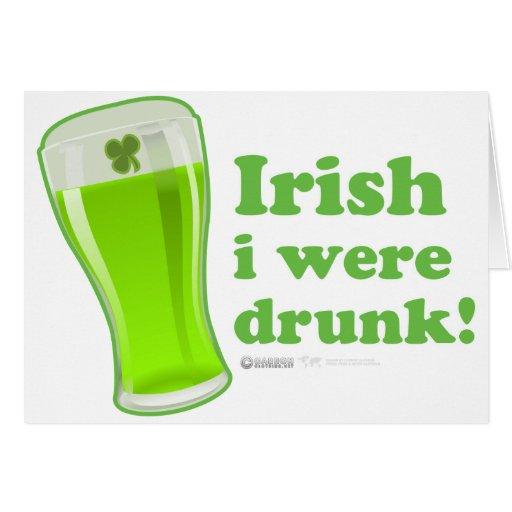 El irlandés del día de St Patrick era vidrio Tarjeta De Felicitación