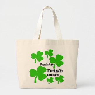 El irlandés del trébol arraiga la bolsa de asas