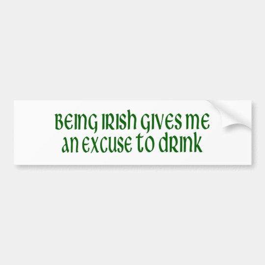 El irlandés es una excusa a beber pegatina para auto