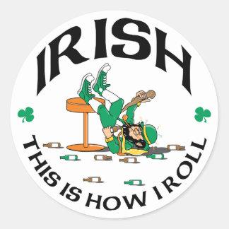 El irlandés esto es cómo ruedo el regalo pegatinas redondas