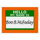 El irlandés hola mi nombre es felicitaciones