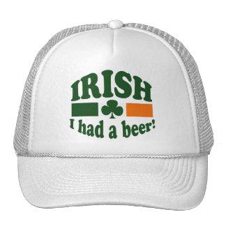 El irlandés I comía una cerveza Gorras De Camionero