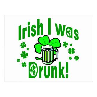 El irlandés I era /1 borracho Tarjetas Postales