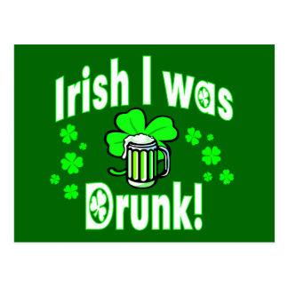 El irlandés I era /2 borracho Postal