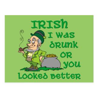El irlandés I fue bebido Tarjetas Postales