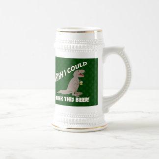 El irlandés I podría beber esta cerveza, T-Rex div Tazas De Café