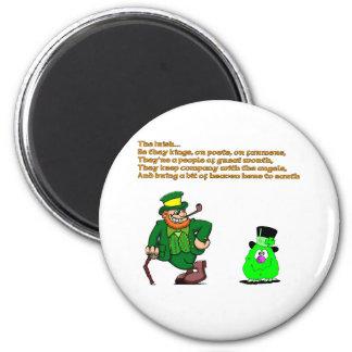 El irlandés imán redondo 5 cm