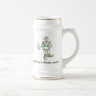 ¡el irlandés, Irishing es trabajo sediento! Tazas De Café
