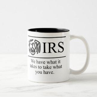 El IRS $17,95 dos entonó la taza de café