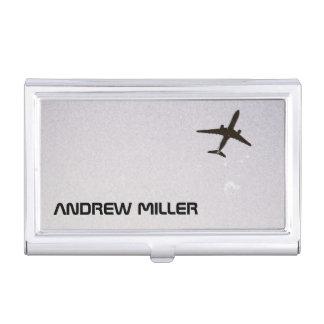 El irse volando/aeroplano de la mucha altitud caja de tarjetas de negocios