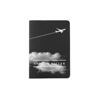 El irse volando/el aeroplano del jet/personalizó porta pasaporte