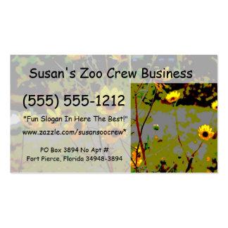 El ish amarillo de la margarita florece el fondo v tarjetas de visita