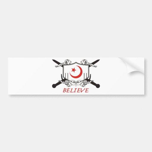 El Islam cree Pegatina De Parachoque