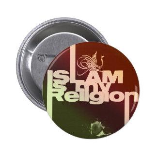 El Islam es mi religión - impresión árabe islámica Pin Redondo 5 Cm