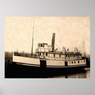 El isleño del barco de vapor poster